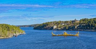 Landmarks of Vaxholm, Stockholm archipelago, Sweden Royalty Free Stock Images