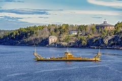 Landmarks of Vaxholm, Stockholm archipelago, Sweden Stock Images