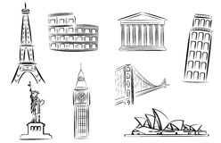 Landmarks vector illustration Royalty Free Stock Image