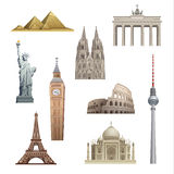 Landmarks of the world Royalty Free Stock Photos