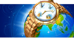 Landmarks Wrist Watch Royalty Free Stock Images
