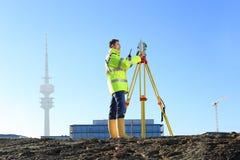 Landmeter in München op heuvel Royalty-vrije Stock Foto