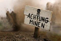 Landmijnen vooruit Royalty-vrije Stock Foto