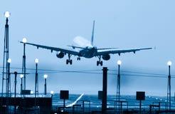 landning Fotografering för Bildbyråer