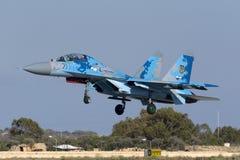 landning för Flanker 2-seat Royaltyfria Bilder