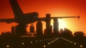 Landning för Milwaukee Wisconsin USA Amerika horisontsoluppgång royaltyfri foto