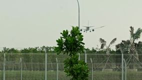 Landning i airporte Changi lager videofilmer