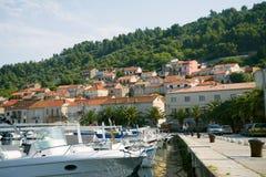 Landningetapp i Adriatiska havet Arkivfoto