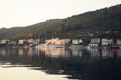 Landningetapp i Adriatiska havet Arkivbild