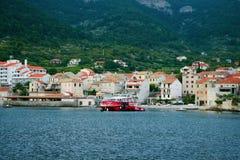 Landningetapp i Adriatiska havet, flotta och seascape Fotografering för Bildbyråer