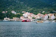 Landningetapp i Adriatiska havet, flotta och seascape Royaltyfri Foto