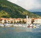 Landningetapp i Adriatiska havet, flotta, seascape Royaltyfria Foton