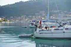 Landningetapp i härliga Adriatiska havet Royaltyfri Foto