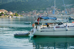 Landningetapp i härliga Adriatiska havet Royaltyfria Foton