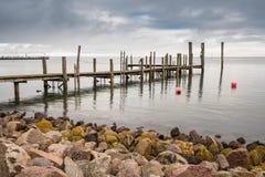 Landningetapp på Nordsjönkusten på ön Amrum Royaltyfri Foto