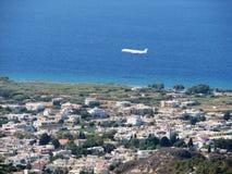 Landningflygplan Arkivfoto