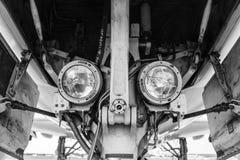 Landningljus på kugghjulet Arkivfoto