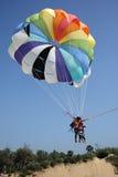 landningparasail Royaltyfri Foto