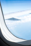 Landningremsa i flygplats Fotografering för Bildbyråer
