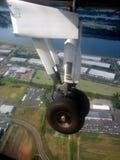 landningsögonblick arkivfoton