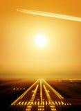 landningsbana arkivbild