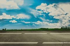 Landningsbana i flygplats Begrepp arkivbild
