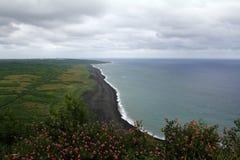 Landningstränderna av Iwo Jima, Japan Arkivfoto