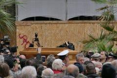 Lando Fiorini Funeral royalty-vrije stock fotografie