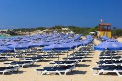 Lando plaża agia cibory napa Zdjęcia Stock