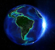 Landområde i Brasilien natten vektor illustrationer