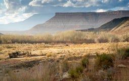landområde utah Arkivbilder