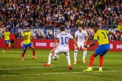 Landon Donovan #10 auf US-International-Freundschaftsspiel Lizenzfreie Stockbilder