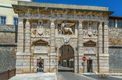 Landport, Zadar, Kroatien royaltyfria bilder