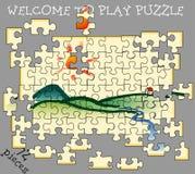 Landpuzzle72 Ilustración del Vector