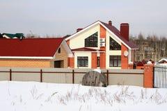 Landregelung im Winter Lizenzfreie Stockfotos