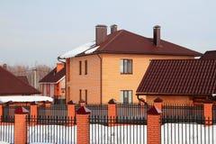 Landregelung im Winter Lizenzfreies Stockbild