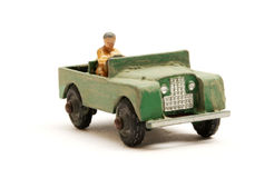 Landrover Jeep toy scale model stock photos