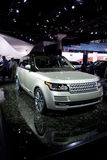 Landrover Range Rover. In water display at International Auto Show Royalty Free Stock Images