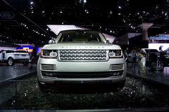 Landrover Range Rover. In water display at International Auto Show Stock Image