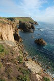 Lands End. The end of Cornwall, Lands End a rugged and rocky part of the Cornish coast stock photography