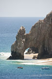 Lands End Arch. Landmark Lands End Arch on the southern most tip of the Baja Peninsula at Cabo San Lucas stock image