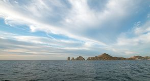 Lands End as seen from the Sea of Cortes at Cabo San Lucas in Baja California Mexico. BCS Stock Image