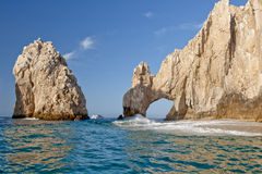 Lands End Cabo San Lucas. Scenic view of Lands End rock arch formation, Cabo San Lucas, Baja California peninsula, Mexico stock photography