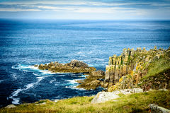 Lands End cliffs and horizon Royalty Free Stock Photos