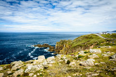 Lands End cliffs royalty free stock photography