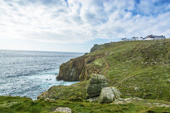 Lands end coastline at  Cornwall Royalty Free Stock Photography