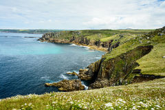 Lands End coastline panorama Royalty Free Stock Images