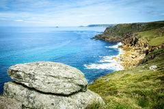 Lands End coastline panorama Stock Photography