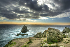 Lands end coastline rocks Royalty Free Stock Photo