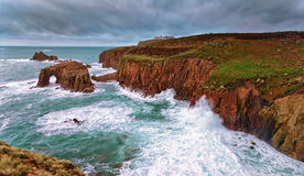 Lands End Cornwall Royalty Free Stock Photos